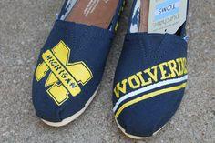 University of Michigan TOMS on Etsy, $45.00