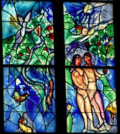 Chagall in Mainz - Adam and Eve, via Flickr.