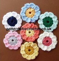pfc113-Flower Motif crochet pattern   Craftsy