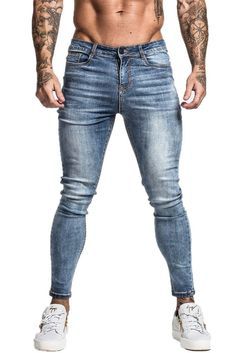 Mens Skinny Jeans Super Skinny Jeans Men Non Ripped Stretch Denim Pants Elastic Waist Big Size European Ripped Jeans Men, Levis Skinny Jeans, Super Skinny Jeans, Denim Pants, Skinny Fit, Spray On Jeans, Compression Pants, Colored Jeans, Stretch Denim