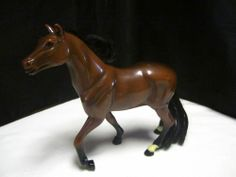 "Blue Boy Horse 7"" Brown Stallion White Socks Farm Horse Toy"