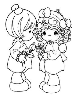Precious Moments Coloring Page S Best Friends Printable Love