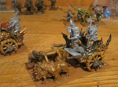 Carroza de guerra en proceso. Orcos, Orcs, Mantic, Kings of war
