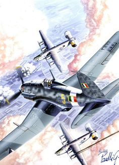 Fiat G.55 against B-24