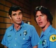 Cap and Johnny ~~ little, geeky, shipping pleasure I'm not ashamed to admit ; 1970s Tv Shows, Old Tv Shows, Kevin Tighe, 70s Hits, Randolph Mantooth, Adam 12, Military Pictures, Classic Tv, Favorite Tv Shows