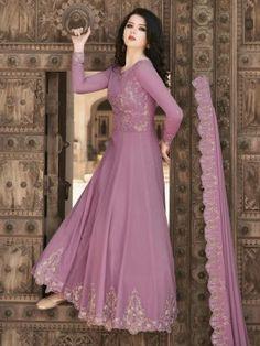 Salwar Kameez - Buy Indian Designer Salwar Kameez Online In USA Indian Dresses For Girls, Girls Dresses, Formal Dresses, Salwar Kameez Online, Girl Online, Girls Shopping, Anarkali, Lilac, Ball Gowns