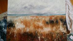 Fiona Tyler - Landscape  oil on canvas board 18 x 24
