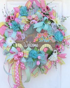 Spring Wreath, Spring Deco Mesh Wreath, Spring Front Door Wreath, Sassy Doors Wreath, Floral Door Wreath, Spring Wreath For Front Door, Pink Wreath, Spring Wreaths,Truck Wreath Welcome spring with this bright and colorful wreath. Bring your spring garden to your door Layered in