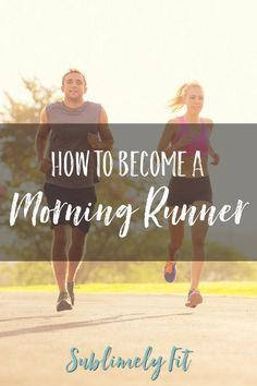Tips for how to become a morning runner. Getting your butt out the door can be tough--here are some tips that can help you get out there. Good Running Form, Get Running, Running Tips, Become A Runner, Running For Beginners, Half Marathon Training, Core Muscles, Running Motivation, Trying To Lose Weight