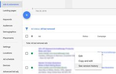 AdWords now shows ad version history - Search Engine Land