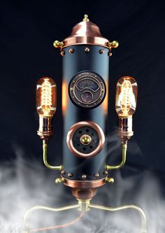 Steampunk Steam Whistle II - Table Light