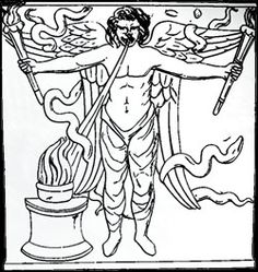 """In Zurvanism, Zurvan is the god of infinite time (and space) and is aka (""""one"""", """"alone"""") deity of matter. Zurvan is the parent of the two opposites representing the good god Ahura Mazda and the evil Angra Mainyu. Zurvan is regarded as a neutral god; being without gender (neuter), passion, one whom there is no distinction between good or evil. Zurvan is also the god of destiny, light and darkness. ...name derives from Avestan zruvan-, """"time"""" or """"old age""""."""