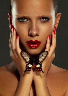 http://www.benjaminbecker-photography.com Photographer Benjamin Becker beauty makeup lips nails fashion magazine cover hair