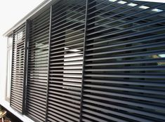 Schuifluiken en lamellen Grill Design, Fence Design, Door Design, House Design, Bamboo Curtains, Curtains With Blinds, Window Protection, Room Divider Doors, Roller Shutters