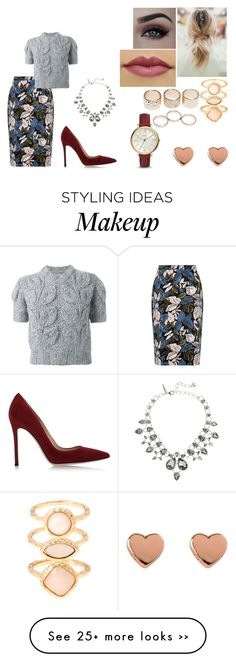 """""""Good Morning America"""" by taynabaracho3 on Polyvore featuring Maison Margiela, Gianvito Rossi, Monsoon, Wet Seal, Ted Baker, FOSSIL and Oscar de la Renta"""