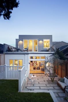 Contemporary exterior.