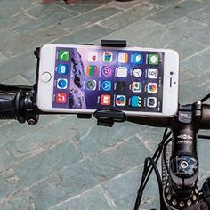 This Universal Bike Mount is easy to install, easy to use. Once installed, mount will stay put and will not shift or shake over bumps and sharp turns. Securely mounts to any bicycle or motorcycle handle up to 1.25 inch diameter. Fully rotatable holster twists and turns 360 degrees. Keeps phone in sight without taking your attention from your trail. Will work if phone has thin skin or case. Includes extra long stretchy rubber band to give additional security