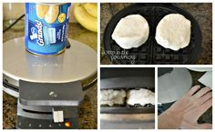 Use canned biscuits on your waffle maker to make delicious waffles!