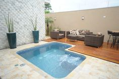 14 Best Ideas For Small Pools For Your Home - Piscina Small Swimming Pools, Small Backyard Pools, Small Pools, Swimming Pool Designs, Outdoor Spaces, Outdoor Living, Outdoor Decor, Moderne Pools, Pool Remodel