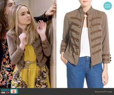Maya's yellow floral dress and taupe jacket on Girl Meets World.  Outfit Details: https://wornontv.net/58282/ #GirlMeetsWorld  Buy it here: http://wornon.tv/36617