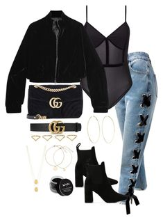 """Untitled #4948"" by theeuropeancloset on Polyvore featuring Sans Souci, Miss Selfridge, Gucci, Tom Ford, Public Desire, Magda Butrym, Ana Khouri, Jennifer Zeuner and NYX"