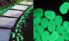 $25 for 200 solar powered glow in the dark pebbles