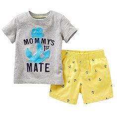 Baby Boys' 2-Piece Outfit Set Tee and Shorts (4T) Wheat's...