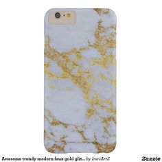 Awesome trendy modern faux gold glitter marble