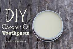 DIY Coconut Oil Toothpaste.