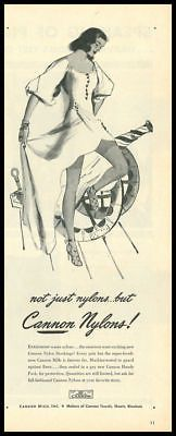 1946 vintage ad for Cannon Nylon Stockings