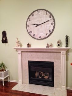 Thrifty Treasures: How to make a Large wall clock- it's functional!