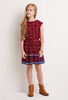 Medallion Print Dress (Kids) | Forever 21 girls