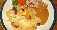 Skinkstek med s. Potato Salad, Crockpot, Potatoes, Meat, Chicken, Ethnic Recipes, Food, Healthy Slow Cooker, Potato