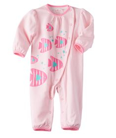 This just pinned! Baby Girl Happy Fishy One-Piece - Pink | Hallmark Baby Clothes