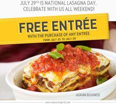 Macaroni Grill: FreeEntree - print your coupon-