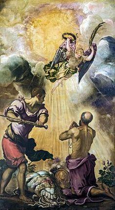 La decollazione di S. Paolo (1550 - 1553), lato destro dell'abside, Jacopo Tintoretto (1518-1594), dim. 240 x 430- Chiesa Madonna dell'orto, Venezia