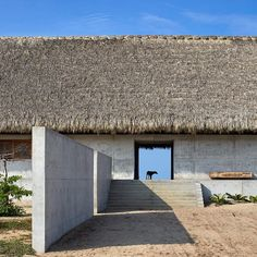 A 312-metre-long concrete wall provides the framework for this house and art centre designed by Japanese architect Tadao Ando. See a full set of images on http://ift.tt/1Q8Xenn #architecture #Mexico by dezeen