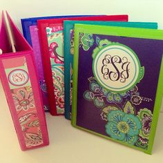 Personalized Vera Bradley Inspired Binder Cover (Individual JPEG File) on Etsy, $2.50