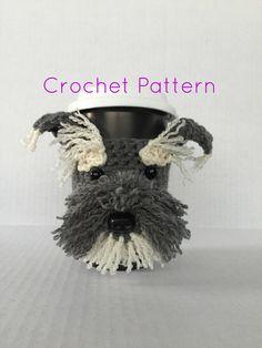 CROCHET PATTERN/Schnauzer Pattern/Dog Pattern/Cozy Pattern/Animal Pattern/Amigurumi Pattern/HookedbyAngel by HookedbyAngel