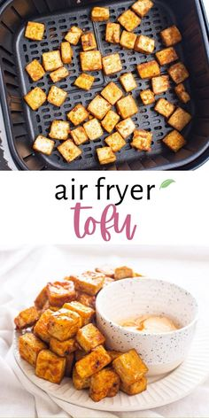 How to make super crispy Air Fryer Tofu in just 10 minutes of cooking time, a handful of simple ingredients, and just enough oil for super crisp results! This air-fried tofu recipe is not only super simple but makes for perfect plant-based meal-prep protein and will impress even the tofu-weary! Tofu Recipes, Clean Recipes, Real Food Recipes, Snack Recipes, Healthy Family Meals, Healthy Breakfast Recipes, Healthy Snacks, Food Website, One Pot Meals