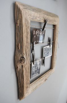 Old Wood Crafts Tips Ideas Barn Wood Projects, Reclaimed Wood Projects, Diy Projects, Old Wood Crafts, Diy Casa, Into The Woods, Photo On Wood, Photo Displays, Wood Design