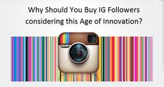 #Buy #ig #followers who will get the best of business promotion. Followers who are behind you are having true accounts and start making natural interactions regarding your business. You will get all services within the time you mentioned. And more and more people will learn how to accept your business products.  www.igpanel.com/why-should-you-buy-ig-followers-considering-this-age-of-innovation/