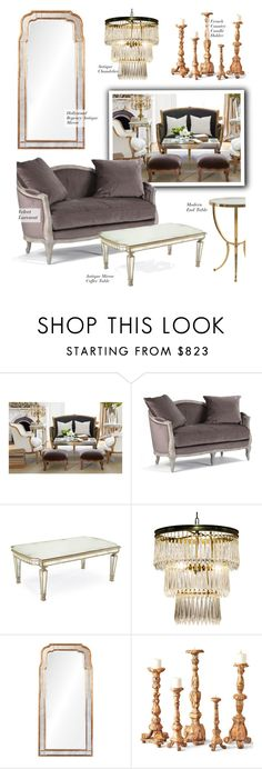 """""""Antique & Modern"""" by kathykuohome ❤ liked on Polyvore featuring interior, interiors, interior design, home, home decor, interior decorating, Sheridan, modern, livingroom and Home"""