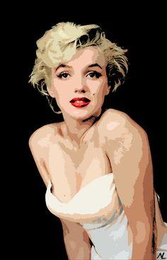 vintage pop art   Marilyn Monroe Pop Art Mini Poster 11 x 17 by NLopezArt on Etsy