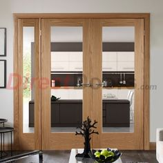 Door pair with offset side frame Easi-Frame Oak Door Set GOSHAP10- & Take a look around a Victorian house | Double french doors House ...