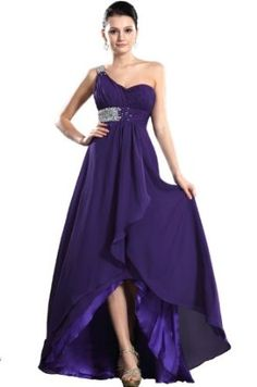 eDressit New Purple One Shoulder Prom Gown Evening Party Dress (36120506),£79.99