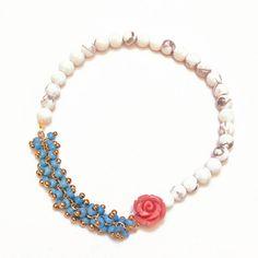 semi precious bead stretch bracelet by norigeh | notonthehighstreet.com