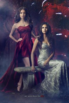 Katherine and Elena #TheVampireDiaries #TVD