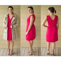 Express Pink Casual Dress 95% rayon, 5% spandex | super soft and comfortable!  easy to throw on.  i'm happy to consider offers, feel free to make them with the offer tool! Express Dresses Midi