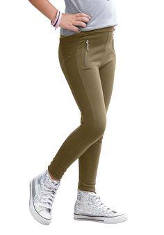 Produkttyp , Leggings, |Qualitätshinweise , Hautfreundlich Schadstoffgeprüft, |Materialzusammensetzung , Obermaterial: 70% Viskose, 27% Polyester, 3% Elasthan, |Material , Schwere Jerseyware, |Farbe , Khaki, |Passform , Schmale Form, |Beinform , schmal, |Beinlänge , lang, |Leibhöhe , normal, |Bund + Verschluss , Rundum-Gummizug, |Taschenanzahl , ohne, |Vorder- und Seitentaschen , Tasche imitier...